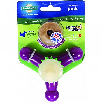 Busy Buddy Treat Holding Jack BEIGE/PURPLE SMALL