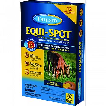 Equi Spot Spot-on Fly Control For Horses Stable Pk  12 WEEK