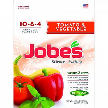 Jobes Tomato & Vegetable Synthetic Fertilizer - 6 lb.