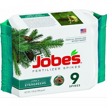 Jobes Evergreen Fertilizer Spikes  9 PACK