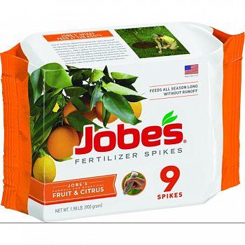 Jobes Fruit Tree Fertilizer Spikes  9PK