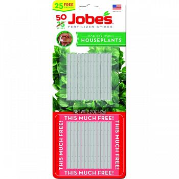 Jobes Houseplant Spikes Twin Pack  50 PACK