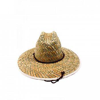 Mens Straw Hat Flat Weave