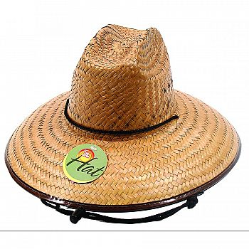 Mens Straw Hat - Brown