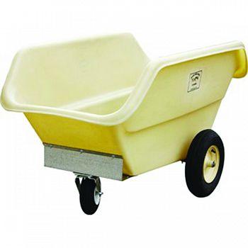 Poly Feed Cart TAN 18 BUSHEL