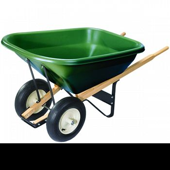 Wheelbarrow 2 Wheel GREEN 8 CU FT