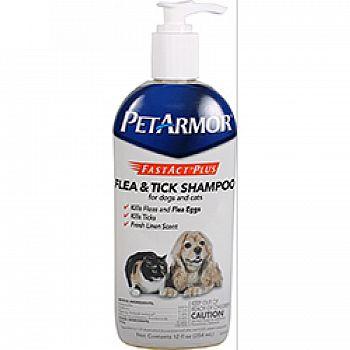 Pet Armor Fastact Plus Flea/tick Shampoo Dog/cat