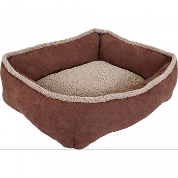 Shearling Rectangular Lounger ASSORTED 24X20X7 INCH