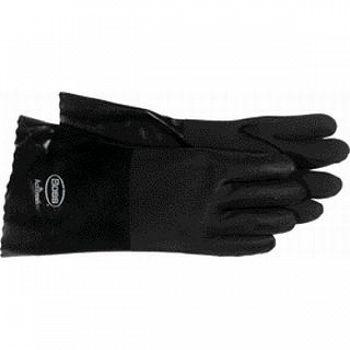 High n Dry Gauntlet Black PVC Gloves for Men  (Case of 12)