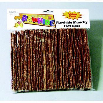Flat Bar Rawhide Sticks for Dogs - 50 pack