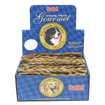 Braided Bull Stick Dog Treats (Case of 25)
