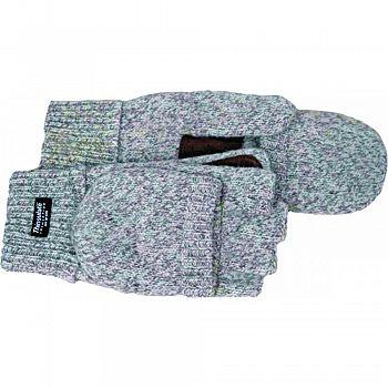Fingerless Ragg Wool Fingerless Glove W/ Mitt Flap GRAY LARGE (Case of 12)