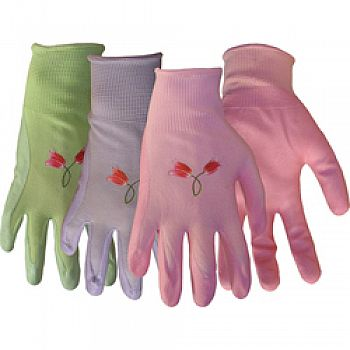 Nylon Knit Nitrile Palm Gloves For Women (Case of 12)
