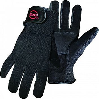 Boss Guard Reversed Goatskin Mechanic Glove BLACK SMALL (Case of 12)