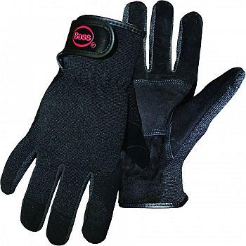 Boss Guard Reversed Goatskin Mechanic Glove BLACK LARGE (Case of 12)