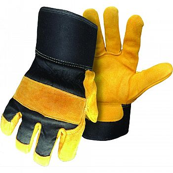 Boss Therm Insulated Reverse Grain Deerskin Glove BLACK GOLD LARGE (Case of 6)