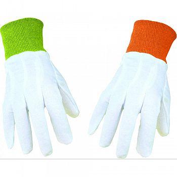 Boss Garden Ladies Cotton Canvas Glove Knit Wrist WHITE ONE SIZE (Case of 12)