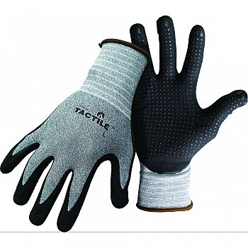 Boss Tactile Dotted Dipped Nitrile New Item   1231 BLACK/GRAY XLARGE (Case of 12)