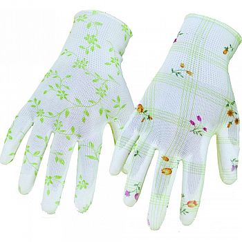 Boss Garden Ladies Nylon Knit Pu Coating Glove ASSORTED ONE SIZE (Case of 12)