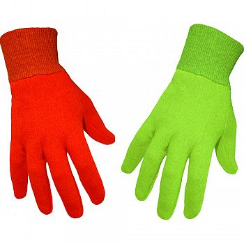 Boss Garden Ladies Jersey Colored Cotton Glove ASSORTED ONE SIZE (Case of 12)