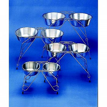 Stainless Steel Elevated Pet Double Diner