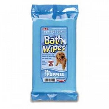 Perfect Coat Gentle Bath Wipes - Puppy 24 ct.