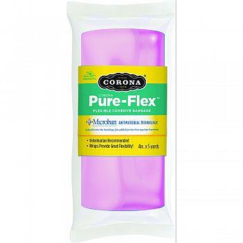 Corona Pure-flex Flexible Cohesive Bandage PINK 4INCH X 5YARD