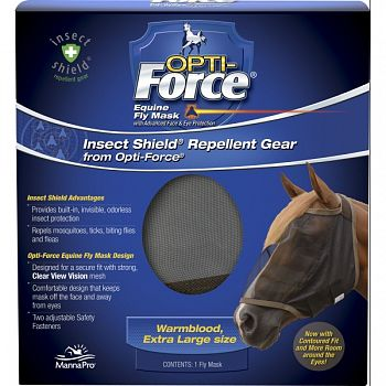 Opti-force Equine Fly Mask With Insect Shield  EXTRA LARGE
