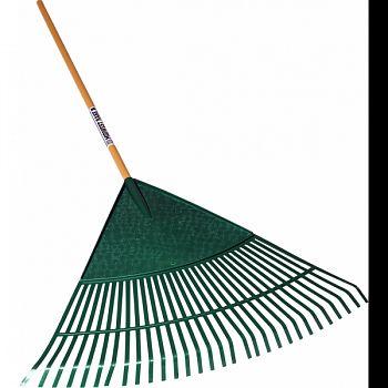 Leaf Rake Poly Head Wood Handle BLACK 30 INCH