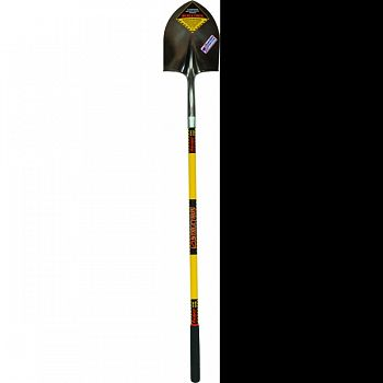 #2 Round Point Shovel 14 Gauge Rolled Step YELLOW