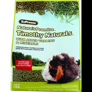 Nature S Promise Timothy Naturals Guinea Pig Food  5 POUND