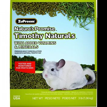Nature S Promise Timothy Naturals Chinchilla Food  3 POUND