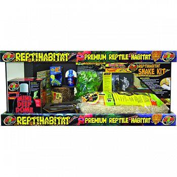 Reptihabitat Premium Reptile Habitat Snake Kit  20 GALLON LONG