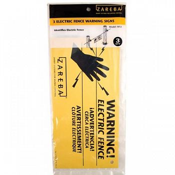 Zareba Electric Fence Warning Signs - 3 pk.