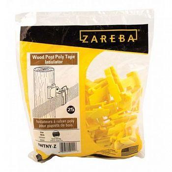 Zareba Wood Post Poly Tape Insulator - 25 pk.