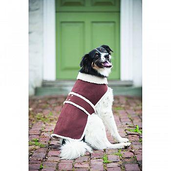 Shearling Dog Coat BROWN LARGE