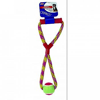 Crinkle Rope Tug W/handle