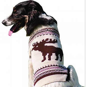 Moose Dog Sweater CREAM XSMALL