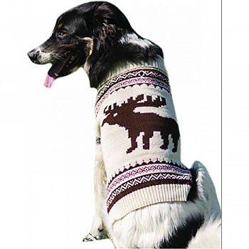 Moose Dog Sweater CREAM MEDIUM