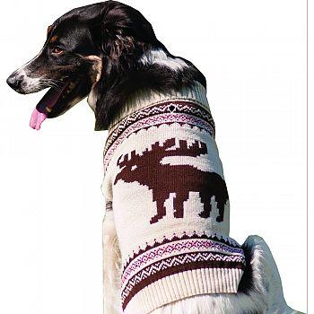 Moose Dog Sweater CREAM LARGE