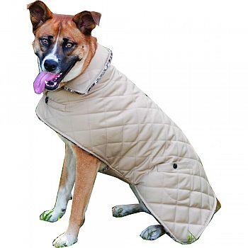 Reversible Barn Dog Coat TAUPE XLARGE