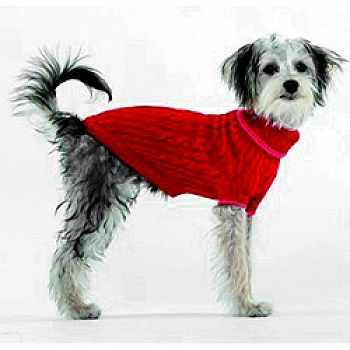 Classic Cable Dog Sweater