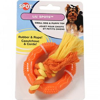 Lil Spots Rubber Ring With Rope