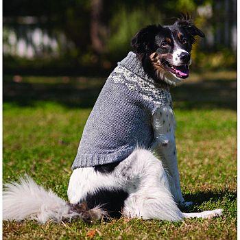 Crochet Dog Sweater MULTI COLORED SMALL/10-14 IN