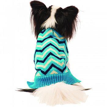 Chevron Dog Sweater BLUE SMALL/10-14 IN