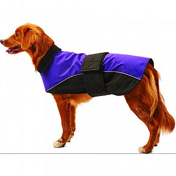 Waterproof Reflective Dog Coat PURPLE/BLACK SMALL/10-14 IN