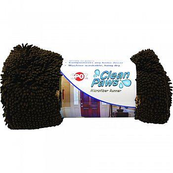 Clean Paws Microfiber Runner BROWN 60 X 30 INCH