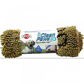 Clean Paws Microfiber Mat TAN 31 X 20 INCH