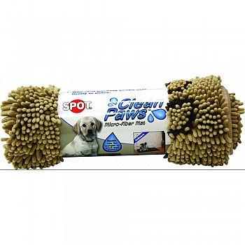 Clean Paws Microfiber Mat TAN 35 X 24 INCH