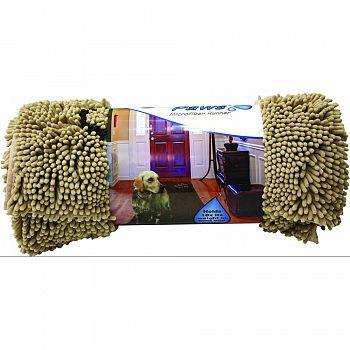 Clean Paws Microfiber Runner TAN 60 X 30 INCH